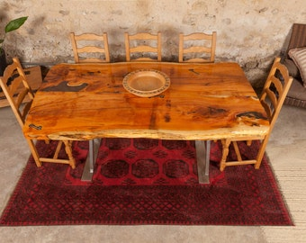 Yew Epoxy Dining Table