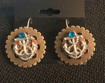 Anchor Steampunk Earrings