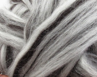 Mixed Icelandic Wool Top Roving - Undyed Natural Spinning & Felting Fiber / 1oz