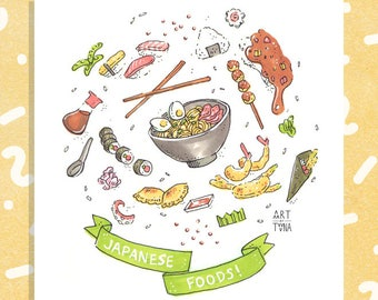 "Japanese Food (Little Things) 5x5"" Print"