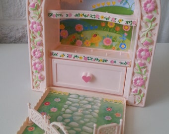 Charmkins, carry case, garden, dufti, pimpi rosa, 80s toy, 1980s, vintage, 1983-1985, Hasbro,very good condition, by NewellsJewels on etsy