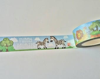 Animal Farm Japanese Washi Tape. Scrapbook and Stationery Tape. Pretty Tape.