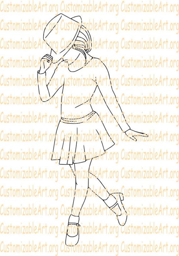 Tap Dance Digital Stamp Dancer Digi Girl Dancing