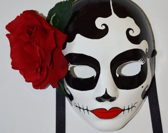 Day Of The Dead, Hand Painted Masks, Festival Masks, Day Of The Dead Costumes, Women's Masks, Costumes For Day Of The Dead, Art Collectibles