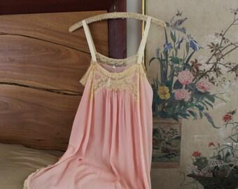 1920s Teddy / Vintage Antique Silk 20s Step In / S