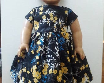 "Handmade 18"" Doll Clothes- Dress fits American Girl Doll"