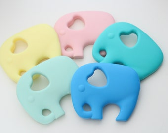 Silicone elephant for teething / Food grade silicone / Safe for baby