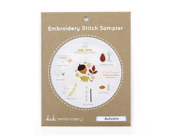 Autumn - Embroidery Stitch Sampler