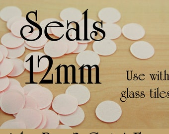 SALE - 100 Clear Two Sided Seals -  12mm Round. Use with Glass Domes. Receive 100 Seals with this listing. Now .15 each everyday