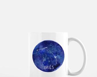 Aries Mug / Ceramic Mug / Astrology Mug / Constellation Mug / Aries Gifts / Mug / Gifts for Her / Witchy Gifts / Aries / Gifts for Aries