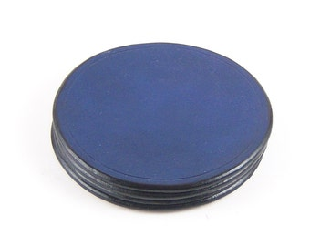 Colored Round leather coaster