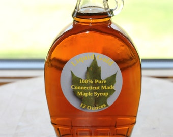 Pure Maple Syrup 12 ounces.