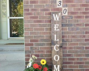 Custom Welcome Sign for Front Porch, Custom wood sign, wood sign, custom wooden sign, wooden sign, wood welcome sign, welcome sign, custom