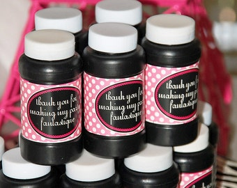 INSTANT DOWNLOAD - Printable 4 oz. Bubble Bottle Labels - Summer In Paris Party Collection