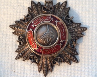 Antique Ottoman Mecidiye Empire Turkey Turkish Order Class Medal Neck Badge Medal Instituted on 1852 by Sultan in 5 Classes