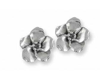 Forget Me Not Earrings Jewelry Sterling Silver Handmade Flower Earrings FMN2-E