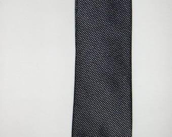 MICHAELIS vintage black and grey pure silk tie/ Silk necktie / Men's accessories/ Quilted tie