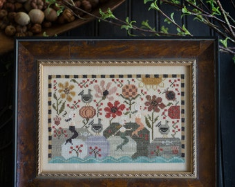 PLUM STREET SAMPLERS Siren Cove counted cross stitch patterns nautical at thecottageneedle.com mermaid sea ocean Thanksgiving