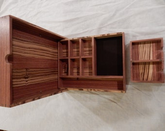 Dungeon master or player this box has it all, made of Zebrawood and Ebiara, great for any system!