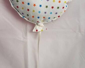 Balloon wall decor colorful stars