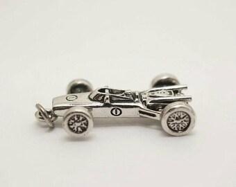 SALE Vintage Sterling Indy Race Car Charm