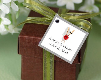 100 Baseball Favor Tags.  Wedding favors