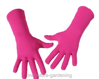 Gardening Gloves, Fuchsia Pink, Size Options: Large