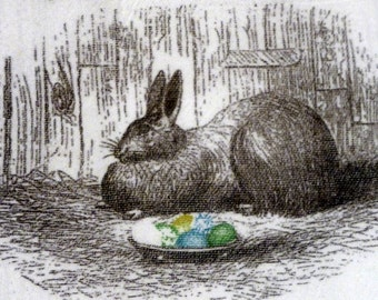 Easter Flour Sack Towel - Bunny Towel - Easter Rabbit - Tea Towels - Kitchen towel - Hostess Gift - dish towel - 100% cotton - Easter Bunny