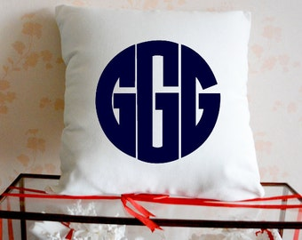 Monogram Pillow,Initial Pillow,Monogram Pillow Case, Monogram Throw Pillow,monogrammed pillow,Name Pillow,Custom Pillow Case,Gift Ideas 4419