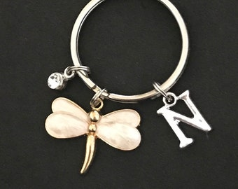 Personalized Dragonfly Keychain Dragonfly Gift