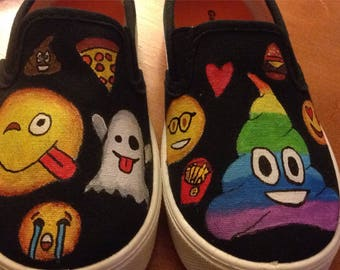 EMOJI Custom Painted Shoes