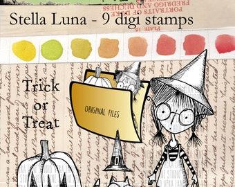 Stella Luna - 9 digi stamps