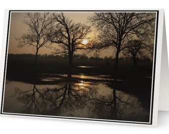 Designed Photo Card ''Reflections'', Any Occasion Cards, Landscape Greeting Card, Photography, Glossy Photo Finish