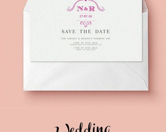 Wedding save the date template printable save the dates wedding save the date personalised printable save the date template invitations stopboris Images