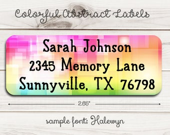 Colorful Abstract Return Address Labels