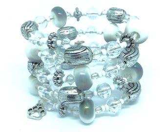 WHISPER Coil Beaded Bracelet by Beading Divas fundraiser