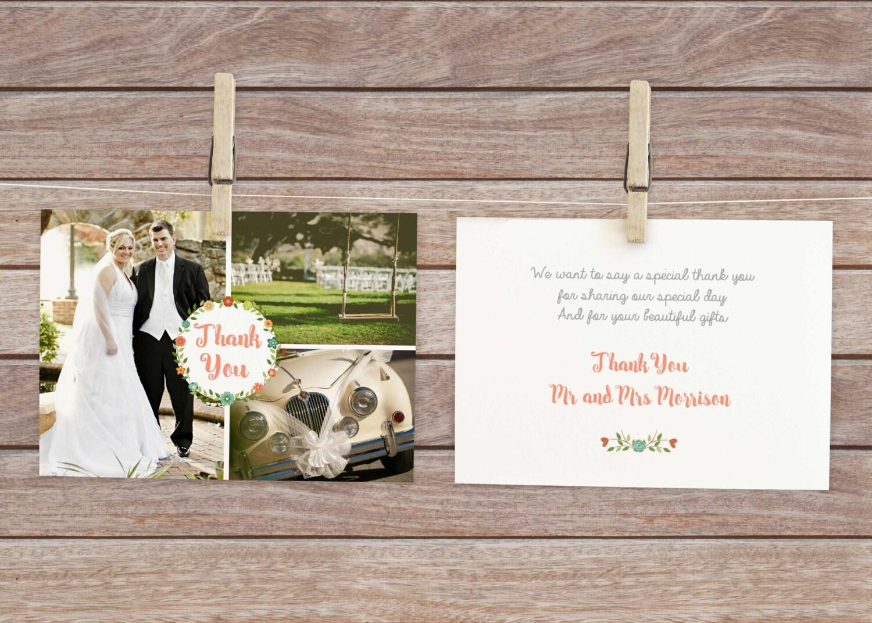 Dankesbrief Hochzeit Hochzeit-Danke-Postkarte Danksagungen