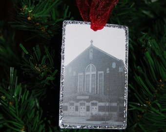 Ornament - St. Kilian Church (vintage view), Chicago