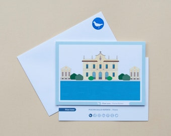 Milan Icons Greeting Cards-Roman Pool-Milan