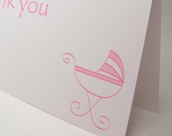SALE -  Baby Pink Thank You Cards