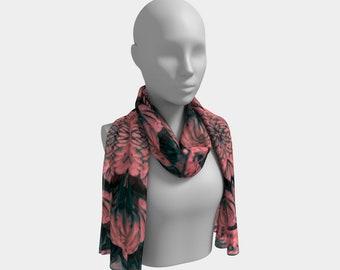 Desert Sunset Long Scarf, wrap, shawl, hijab, doo-rag