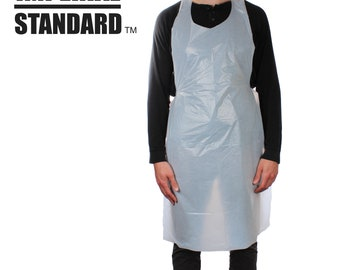 Multipurpose Disposable Aprons - Waterproof Polyethylene Plastic Apron for Arts & Crafts, Painting, and Cooking