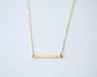 Skinny Bar Necklace in 14K Gold Filled  | Bar Pendant Minimalist Jewelry | Layering Necklace | Gift for Her