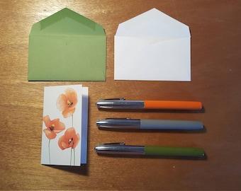 Poppies Enclosure Card