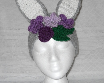 Easter Bunny Rabbit Crochet Headband