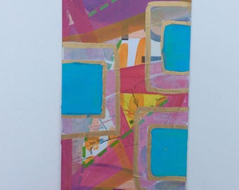 "Original Flashcard Painting ""16-7"""