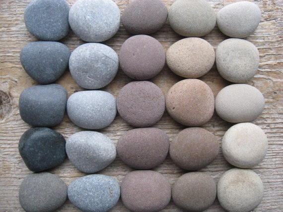 BEACH Stone Cabinet Knobs Stone Drawer Pulls CUSTOM ORDERS