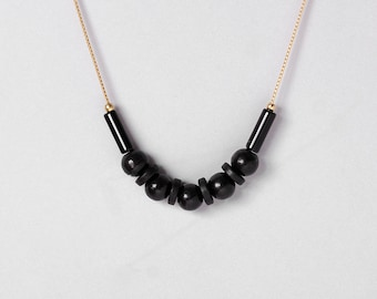 Necklace by Depeapa - PINGO - Jarana Collection - Accesories, jewelry, black