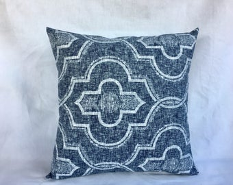 Square Pillow Covers  - Blue Throw Pillow Cover - Decorative Pillows