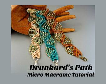micro macrame patterns instructions